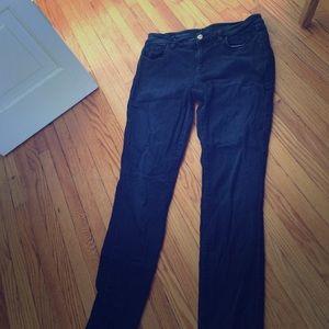 LOFT EUC dark stretchy super skinny 10 30 jeans