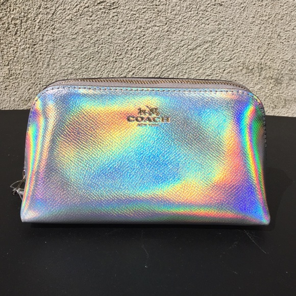 cd0cdf00a0 Coach Silver Hologram Cosmetic Case