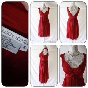 Maggy London Dresses & Skirts - Perfect Red Dress; Elegance Materialized in size 6