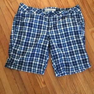 Blue plaid Aeropostale 9 10 medium shorts EUC