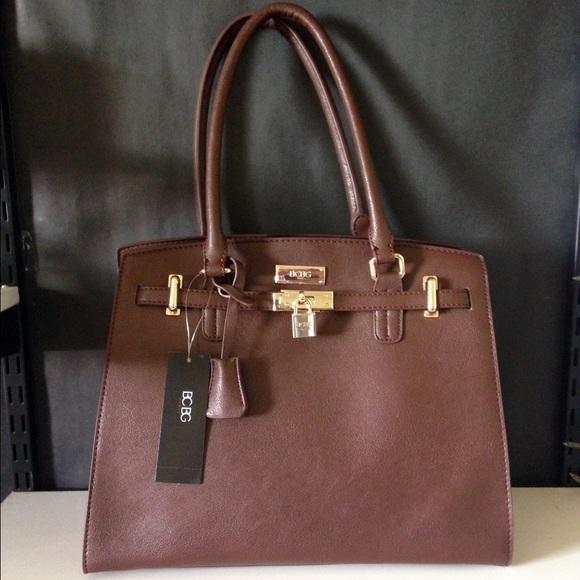 29b4866cb5d1 BCBG Paris lock and key tote bag