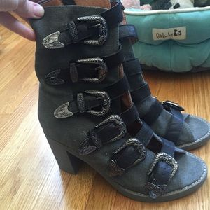 Jeffrey Campbell Boots - Jeffrey Campbell kg west buckle boots size 8