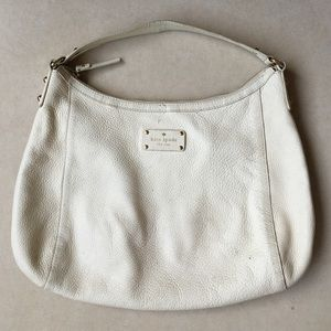 kate spade Handbags - Authentic Kate Spade White Leather Shoulder Bag