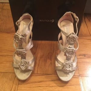 Boutique 9 Shoes - Boutique9 silver platform sandals