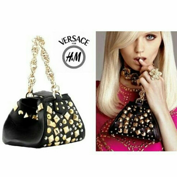 bbf1c9449576 VERSACE for H M NEW Studded Leather Bag Small
