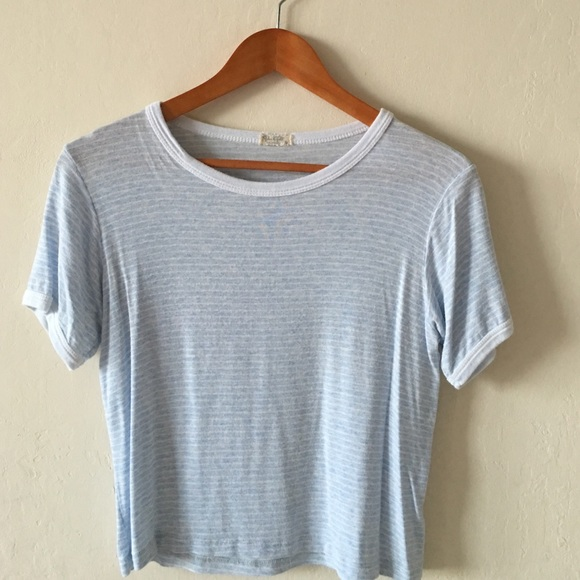 0ba0128ac1 Brandy Melville Tops - Brandy Melville Light Blue Cloud Striped Tee