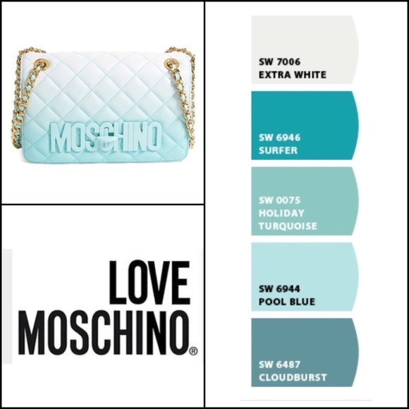 d9ec7d0b8b Moschino, authentic degrade quilted leather bag. M_56f740879c6fcf2016013902