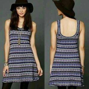 efe1e91f2286 Free People Dresses - Free People Fairisle Fit Flare Sweater Tank Dress