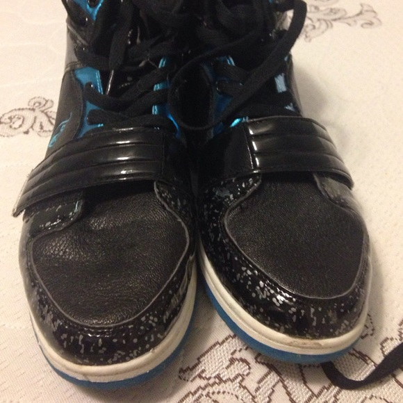 Baby Phat Blue & black high top sneakers from Bella s