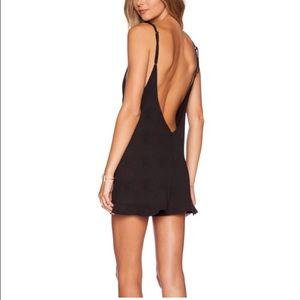 Beach Riot Riot Romper halter and low back