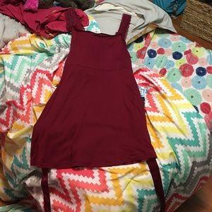 Red silk MERDONA dress