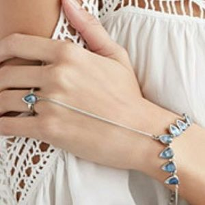 Forever 21 Jewelry - Faux gem hand chain