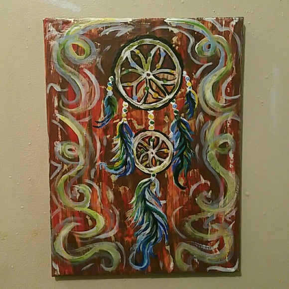 Abstract Dream Catcher Painting