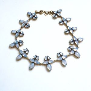 J. Crew opalescent stone statement necklace