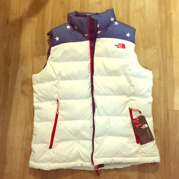 80c30a454 The North Face American Flag Inspired Vest NWT