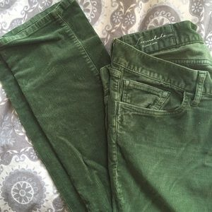 Loomstate Pants - Worn-in Green Cords