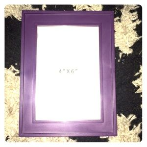 Purple picture frame.