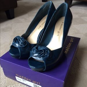 Madden Girl peacock blue heels