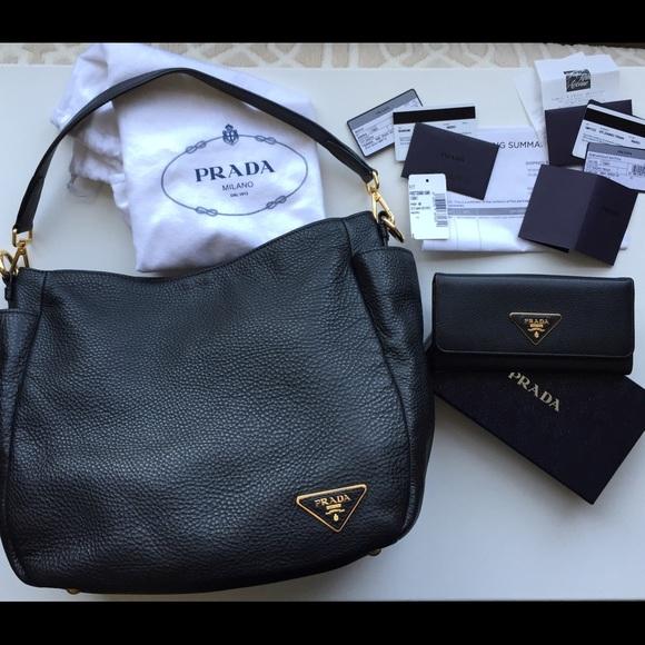 Prada Diano bag and wallet bundle w tags receipts.  M 56f8106cbf6df5d52707c72e 360d4e70de