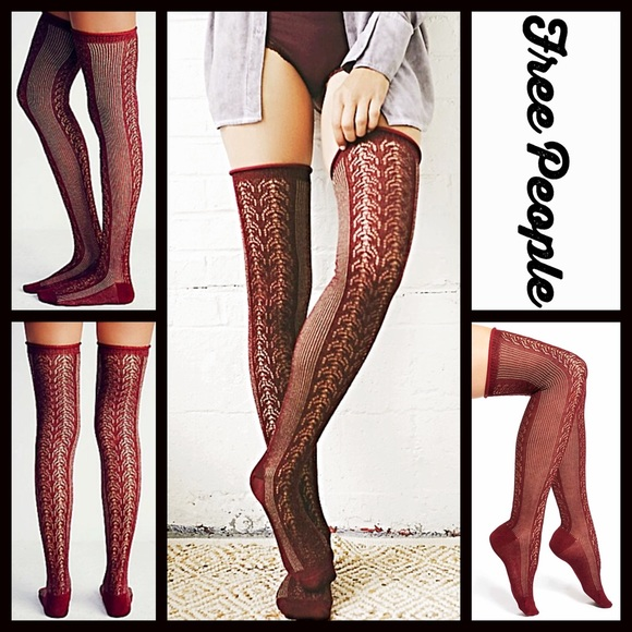 Free People Accessories Over The Knee Boot Socks Thigh Highs