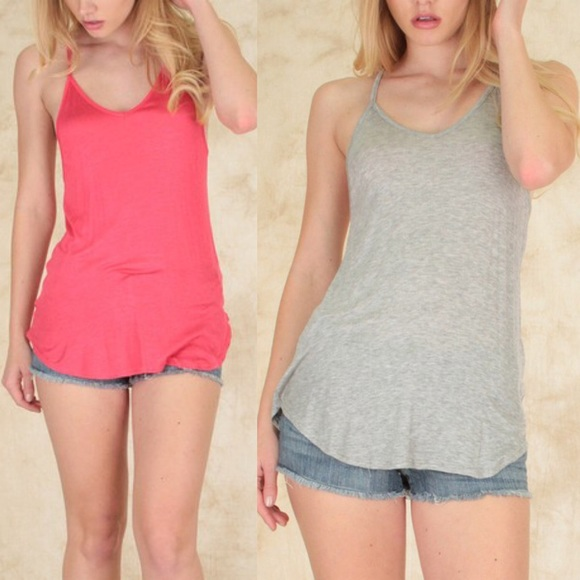 Bellanblue Tops - 🆕LULU perfect tank top - BLACK/H. GREY/CORAL