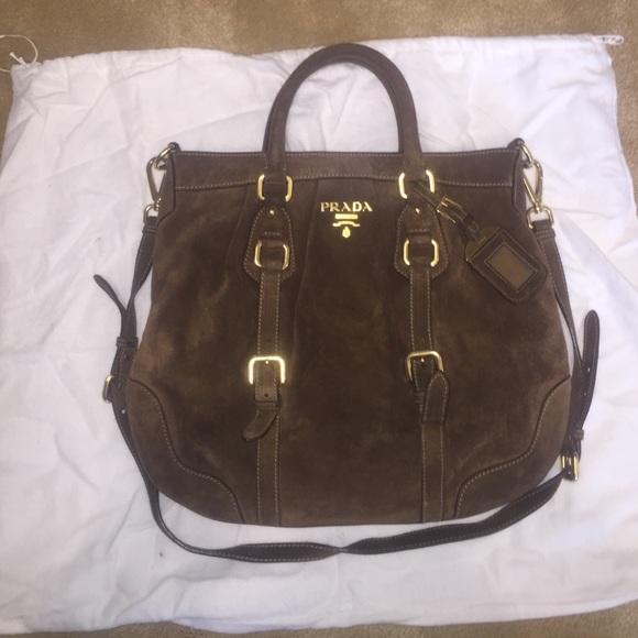 Brown Suede Prada Bag. M 56f81b024127d08b4f0061f3 0524f35764