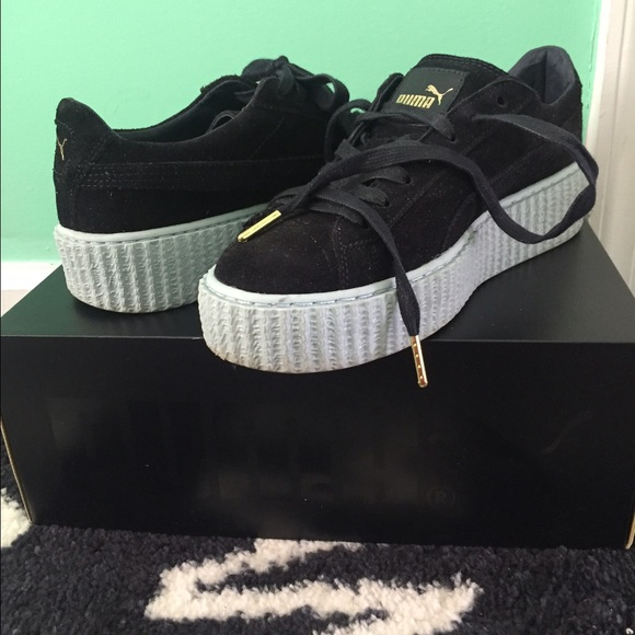 factory authentic ae92a 14e3a *SOLD* Rihanna Puma Suede Creepers size 8.5