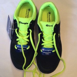 62790716a6d5 Champion Shoes - Champion Woman s Sneakers Black Lime Size 8 NWT