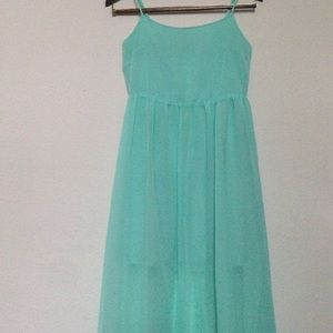 sea foam teal blue green maxi skirt s from andie s