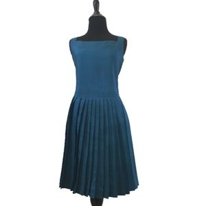 True Vintage 1960's Drop Waist Silk Cocktail Dress