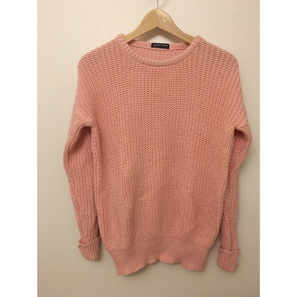 36% off American Apparel Sweaters - AA pink fisherman pullover ...