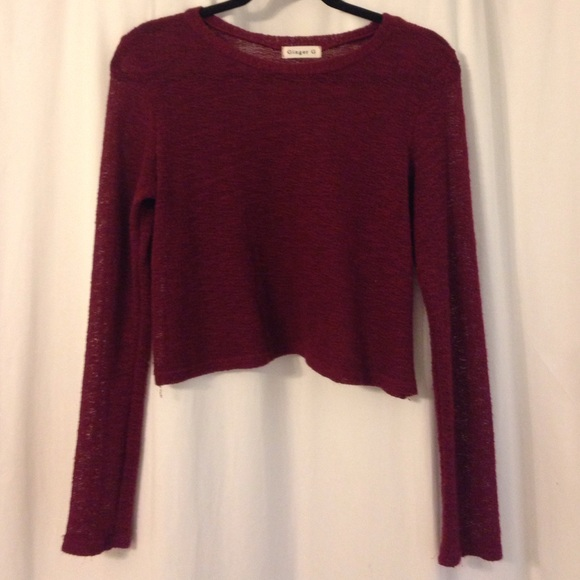 68% off ginger g Sweaters - Maroon cropped sweater from Jane's ...