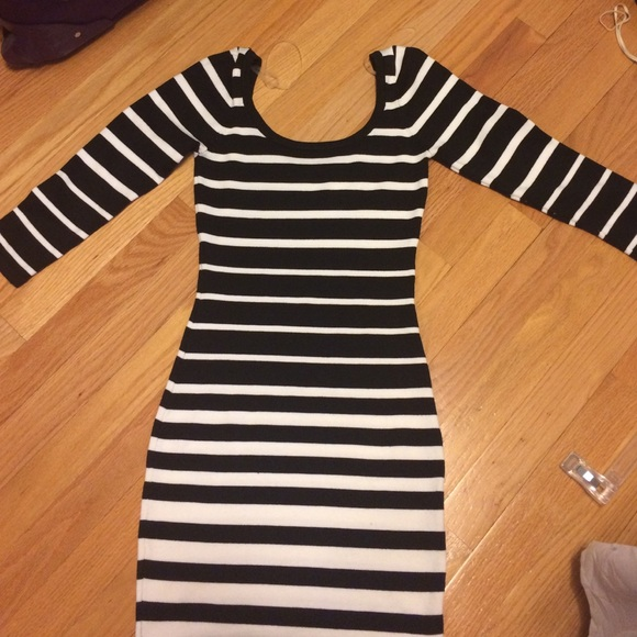 673eaaa7f2c Charlotte Russe Black and White Sweater Dress