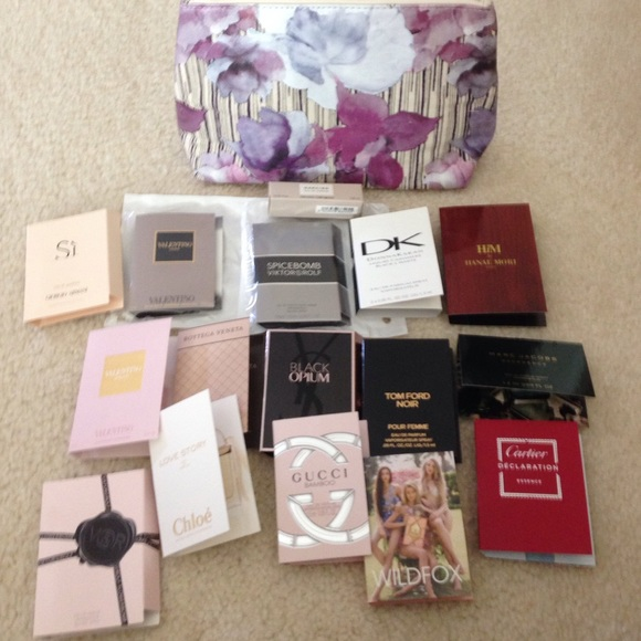 Accessories   High End Perfume Samples W/ Nordstrom Cosmetic Bag