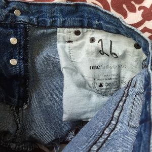 One Teaspoon Shorts - One Teaspoon Distressed Denim Cutoff Shorts