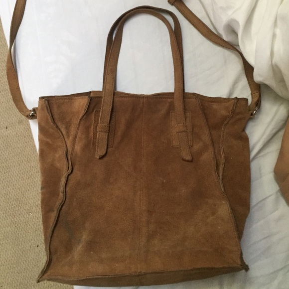 141cff42b4 Zara Bags | Final Price Tan Genuine Suede Tote From | Poshmark