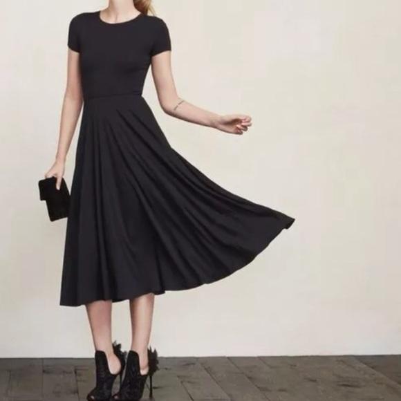 2266556a4f2 NEW black Reformation Caribou A-Line midi dress
