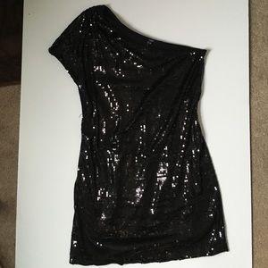Tart Dresses & Skirts - Black sequin one-shoulder dress
