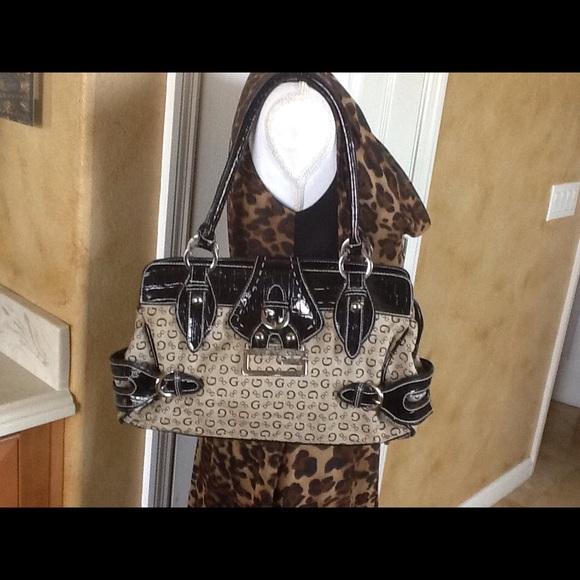 Vintage Guess Handbag Black and Grey | Guess handbags, Black