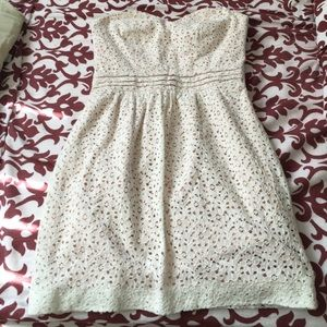 Urban Outfitters Dresses - UO Pins and Needles White Lace Strapless Dress!