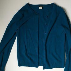J. Crew Sweaters - J.Crew teal cardigan