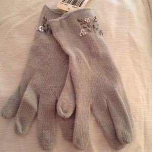 Portolano Accessories - Knit embellished gloves