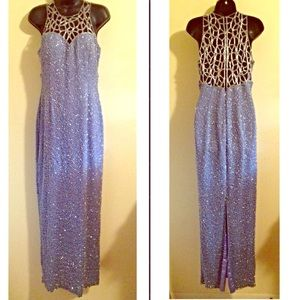 Dresses & Skirts - Light Periwinkle Caged Prom Dress