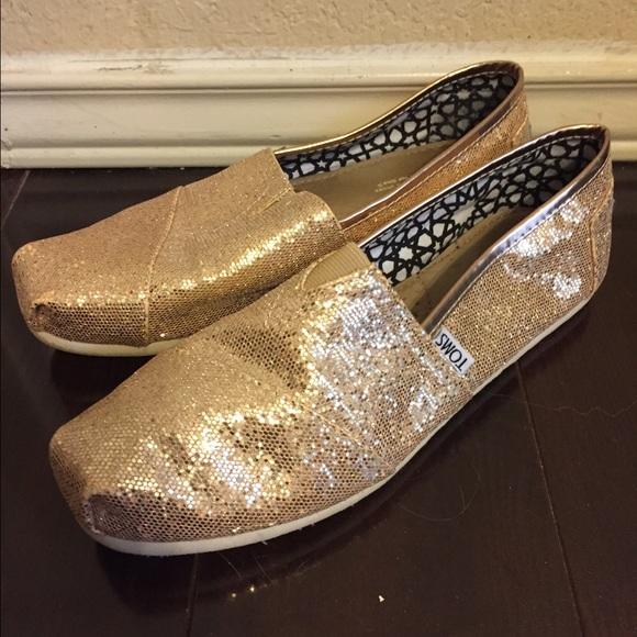 Toms Shoes | Toms Rose Gold Sparkle