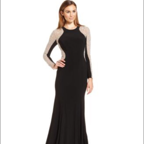 40% off Xscape Dresses & Skirts - Xscape Long Sleeve Studded ...