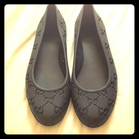 Gucci Shoes   Gucci Black Rubber Ballet