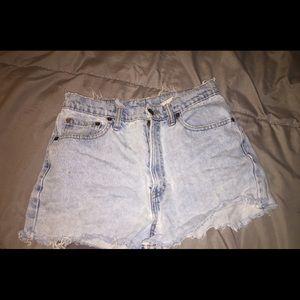 Vintage 90 High Waisted Denim Cutoff Shorts