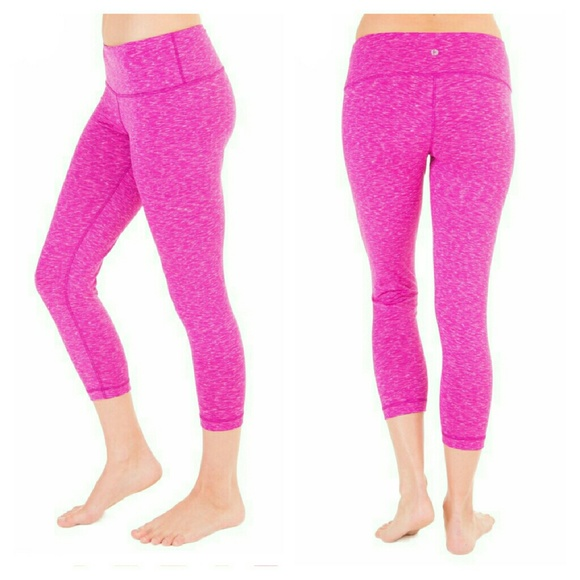 72% off 90 Degree by Reflex Pants - Sale! Pink Spacedye Workout ...