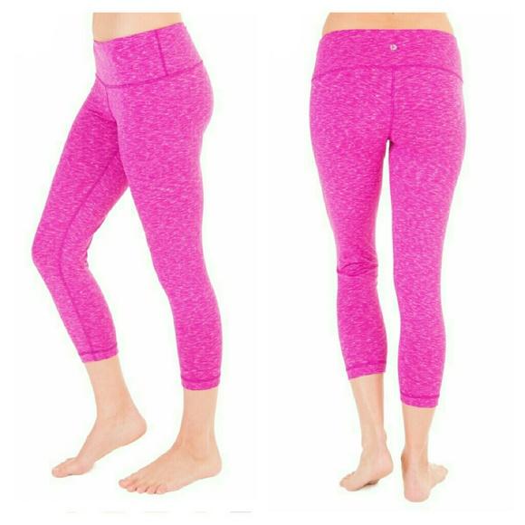 72% off 90 Degree by Reflex Pants - Sale! Pink Spacedye Workout ...
