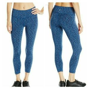 Sale! Blue Spacedye Workout Yoga Capri Pant